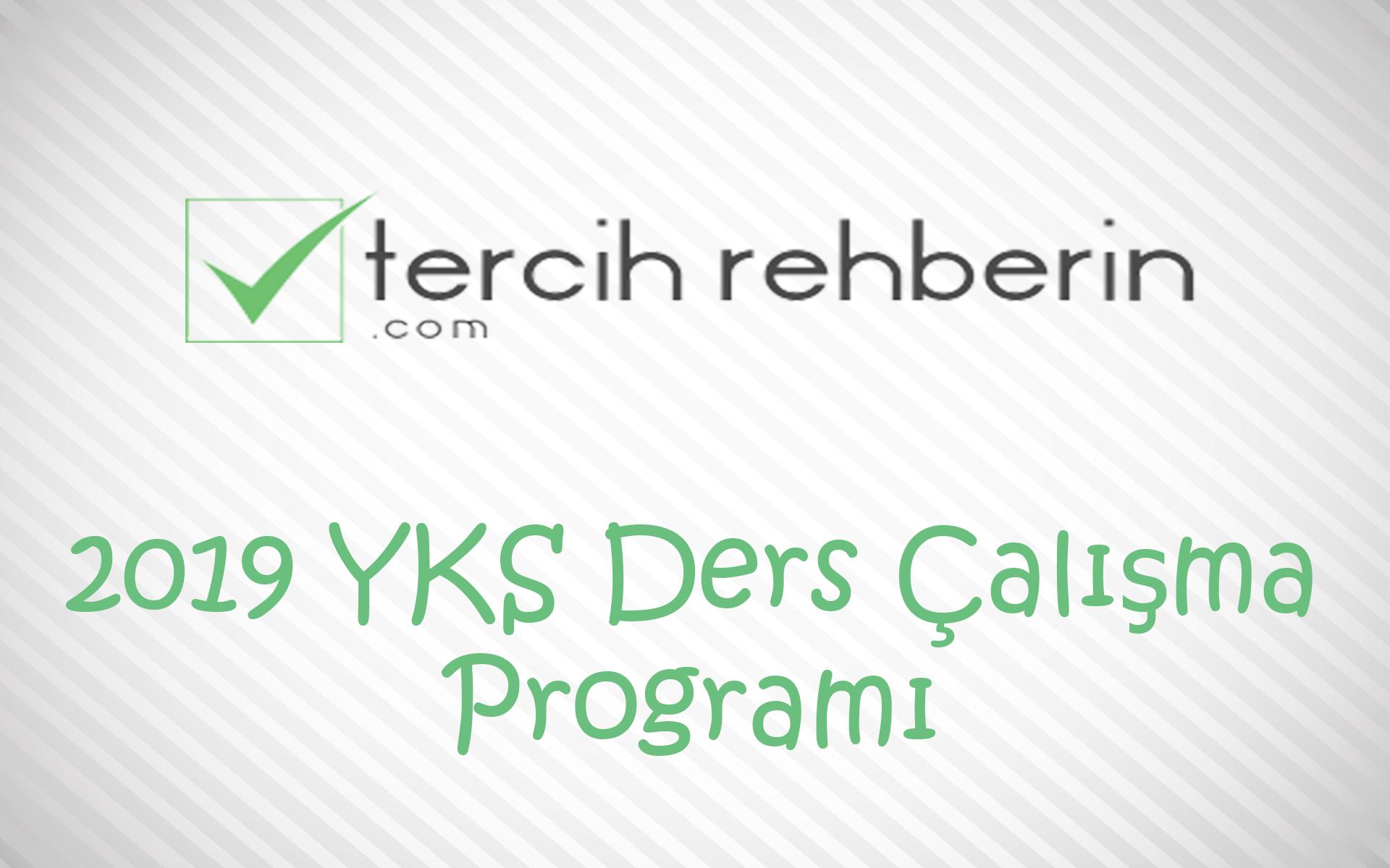 YKS Ders Çalışma Programı