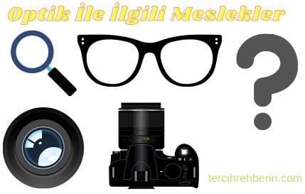Optik ile ilgili meslekler