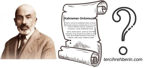 Mehmet Akif Ersoy İstiklal Marşını neden yazmıştır
